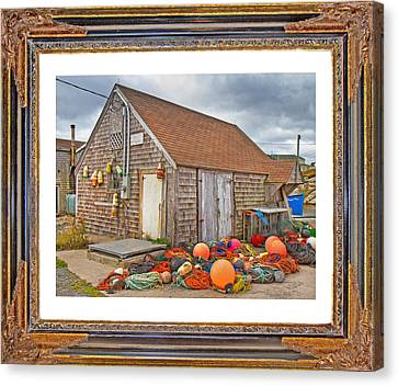 Bouys Canvas Print - The Fishing Village Scene by Betsy Knapp