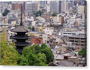 The Five-tiered Pagoda Of To-ji Canvas Print by Paul Dymond