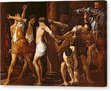 The Flagellation Of Christ, 1586-87 Oil On Canvas Canvas Print by Lodovico Carracci