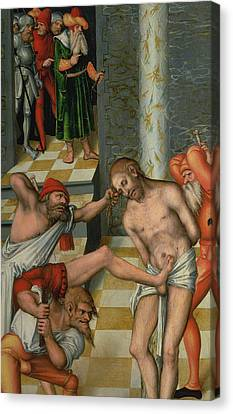 The Flagellation Of Christ Canvas Print by Lucas Cranach