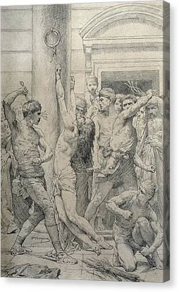 The Flagellation Of Christ Canvas Print by William Adolphe Bouguereau