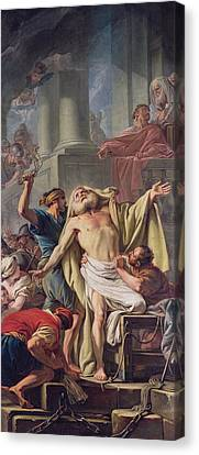 The Flagellation Of St. Andrew, 1761 Oil On Canvas Canvas Print by Jean Baptiste Deshays de Colleville