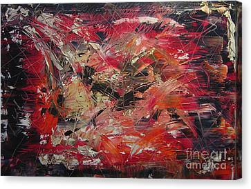The Flameous Painting Canvas Print by Lucy Matta