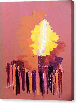 Canvas Print - The Flare A Beacon Of Hope And Anguish by Oyoroko Ken ochuko