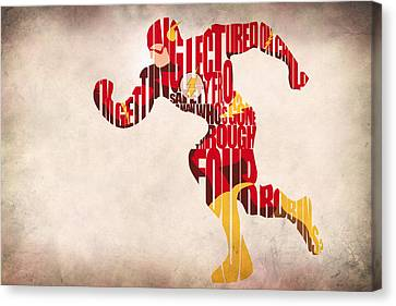 Mix Media Canvas Print - The Flash by Inspirowl Design