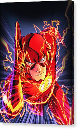 Comic. Marvel Canvas Print - The Flash by FHT Designs
