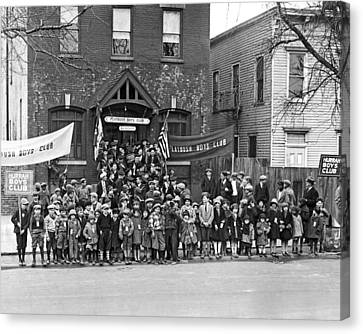 The Flatbush Boys' Club  Canvas Print by Underwood Archives