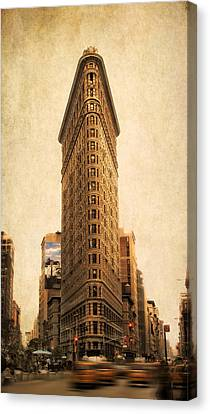 City Streets Canvas Print - The Flatiron Building by Jessica Jenney