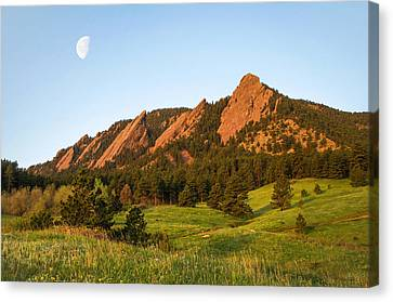 The Flatirons - Spring Canvas Print by Aaron Spong