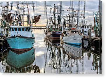 Shrimp Boat Canvas Print - The Fleet by JC Findley