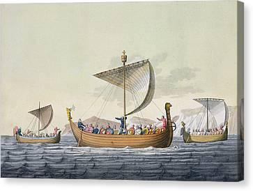 The Fleet Of William The Conqueror Canvas Print