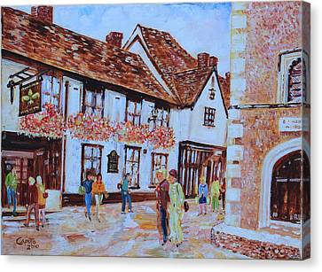 Canvas Print featuring the painting The Fleur De Lyse In St Albans by Giovanni Caputo