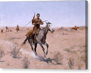 The Flight Canvas Print by Frederic Remington
