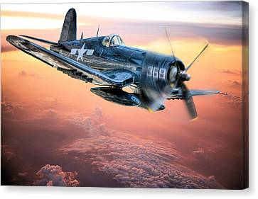 Canvas Print featuring the photograph The Flight Home by JC Findley