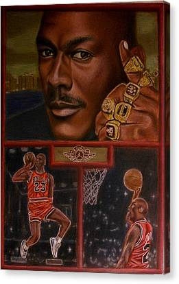 The Flight Instructor Feat Michael Jordan Canvas Print by D Rogale