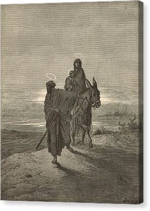 The Flight Into Egypt Canvas Print by Antique Engravings