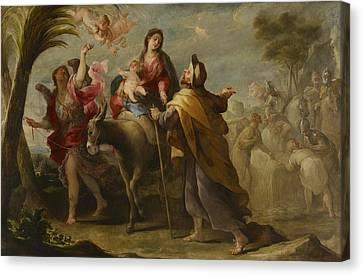 The Flight Into Egypt Canvas Print by Jose Moreno