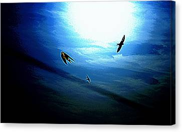 Canvas Print featuring the photograph The Flight by Miroslava Jurcik
