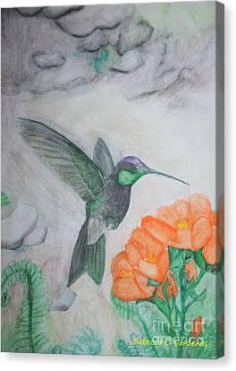 The Flight Of A Hummingbird Canvas Print by Rebecca Christine Cardenas