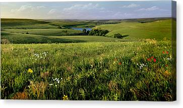 The Kansas Flint Hills From Rosalia Ranch Canvas Print by Rod Seel