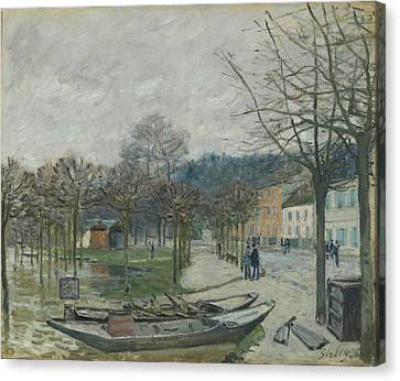 The Flood At Port-marly, 1876 Canvas Print by Alfred Sisley