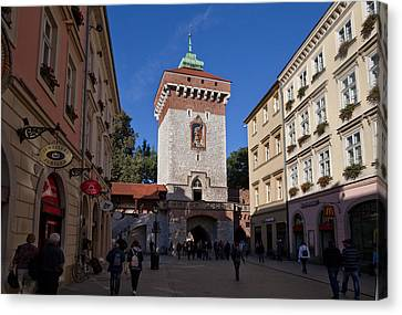 The Florianska Gate, Krakow, Poland Canvas Print by Panoramic Images