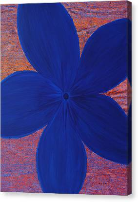 The Flower Canvas Print by Kyung Hee Hogg