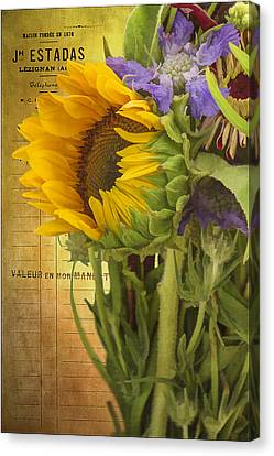 Canvas Print featuring the photograph The Flower Market by Priscilla Burgers