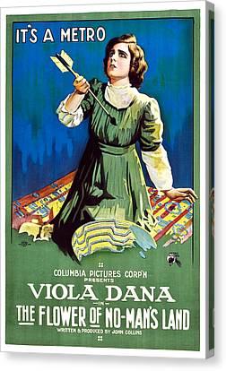 The Flower Of No Mans Land, Viola Dana Canvas Print
