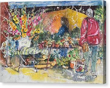 The Flower Vendor Canvas Print