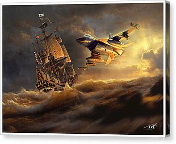 The Flying Dutchman Part One Canvas Print by Peter Van Stigt