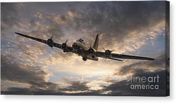 B17 Canvas Print - The Flying Fortress by J Biggadike