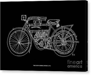 The Flying Merkel Model V 1911 Canvas Print by Pablo Franchi