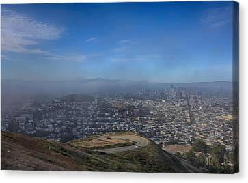 Fog Mist Canvas Print - The Fog Is Rolling In by Laurie Search