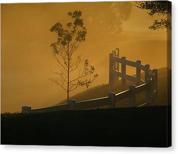 The Fog Canvas Print by Oscar Alvarez Jr