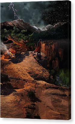 The Fool Canvas Print by Ric Soulen