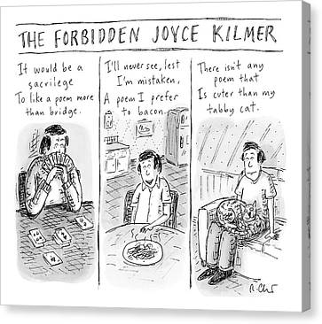 The Forbidden Joyce Kilmer Canvas Print
