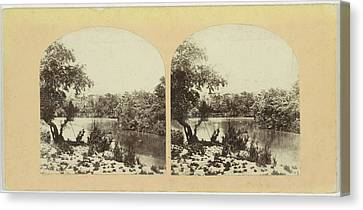 The Ford Of The Jordan, Francis Frith, Negretti & Zambra Canvas Print by Quint Lox