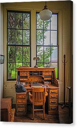 The Foreman's Desk Canvas Print