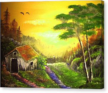 The Forest House Canvas Print by M Bhatt