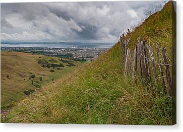 Canvas Print featuring the photograph The Forgotten Fence by Sergey Simanovsky