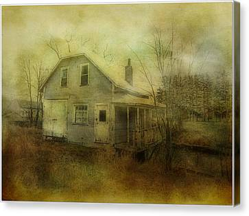 The Forgotten House  Canvas Print by Dianne  Lacourciere