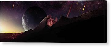 The Formation Of Earth With Many Canvas Print