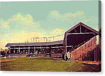 The Fort Wayne In Baseball Stadium Around 1910 Canvas Print by Dwight Goss