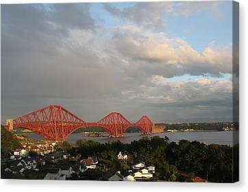 Canvas Print featuring the photograph The Forth Bridge - Scotland by David Grant
