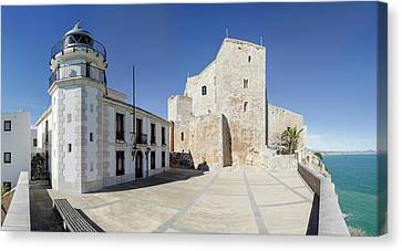 The Fortress And Lighthouse, Chateau De Canvas Print