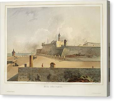 The Forts Of Malta Canvas Print by British Library