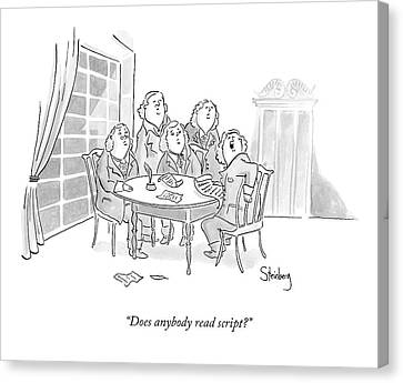 Founding Fathers Canvas Print - The Founding Fathers Holler To Another Room by Avi Steinberg
