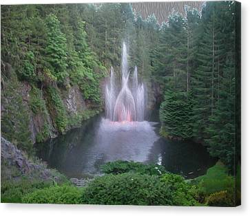 Florid Canvas Print - The Fountain by John M Bailey