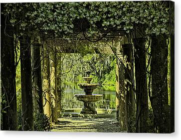 The Fountain Canvas Print by Denis Lemay